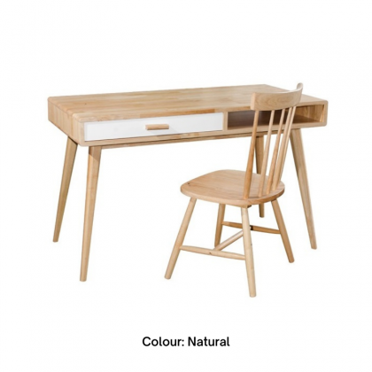 HLW Full Solid Wood Writing Table / Study Table Only (Without Chair)