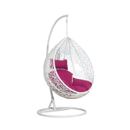ZEUS White Swing Chair with Cushion
